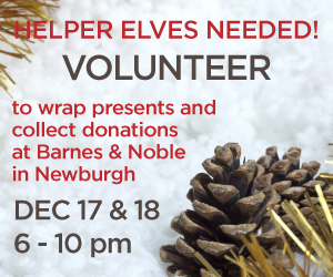 Volunteer to wrap gifts for donations at Barnes & Noble in Newburgh