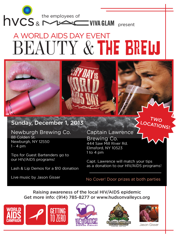 World AIDS Day 2013 - Beauty and the Brew in two locations