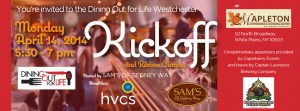 Dining Out for Life Westchester Kick-off