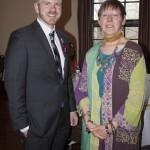 HVCS' J. Dewey with HVCS Board Member Cynthia Cannon Poindexter