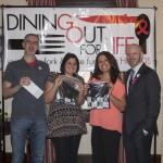 Richard, Nicole and Angela won prizes at the DOFL Westchester kick-off.