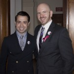 Project Runway's Viktor Luna and HVCS' J. Dewey