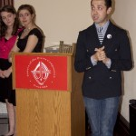 Project Runway's Viktor Luna spoke at HVCS' Dining Out for Life Westchester kick-off.