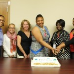 HVCS' Sullivan County staff cut the cake to christen our new office.