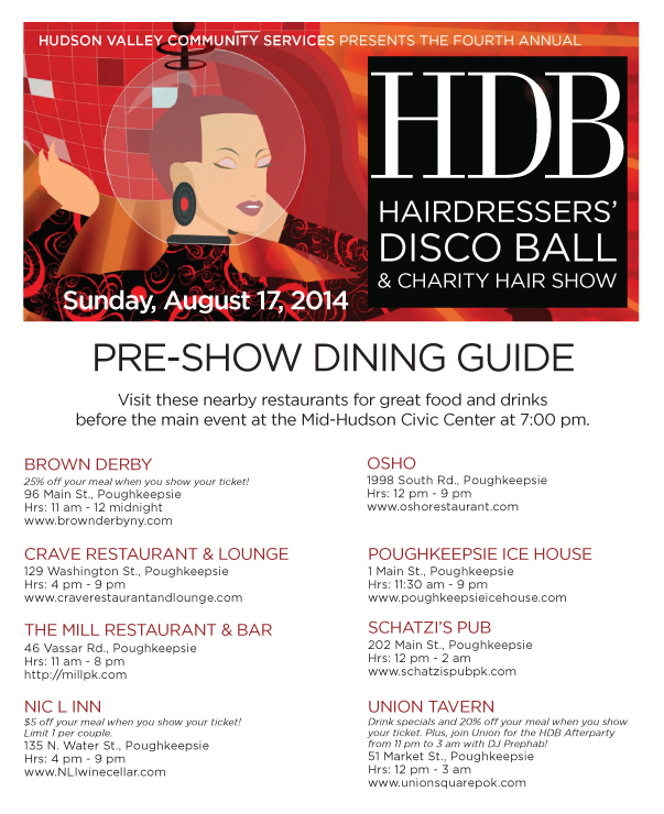 Hairdressers' Disco Ball Dining Guide
