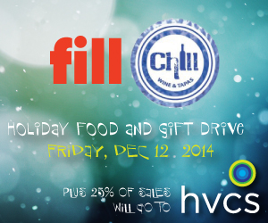 Fill Chill Holiday Food Drive on 12/12/14