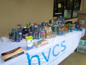 Collecting food donations