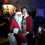 Santa hands out gifts to HVCS donors