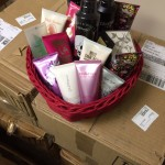A sampling of donated fragrance items from Elizabeth Arden