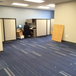 The new workspace (a few more cubicles yet to be built)