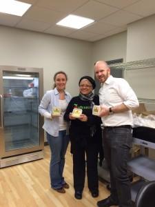 Carla Ramos from Sofregit (center) with HVCS' Krista Mason and J. Dewey