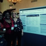 LaShonda Cyrus, Tiffany Sturdivant-Morrison, and Liz Hurley present our poster at the Quality Assurance conference.