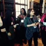 LaShonda Cyrus, Senior Program Supervisor, talks with conference attendees.
