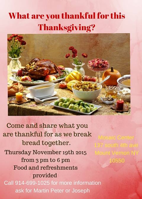 Thanksgiving Feast at Mosaic