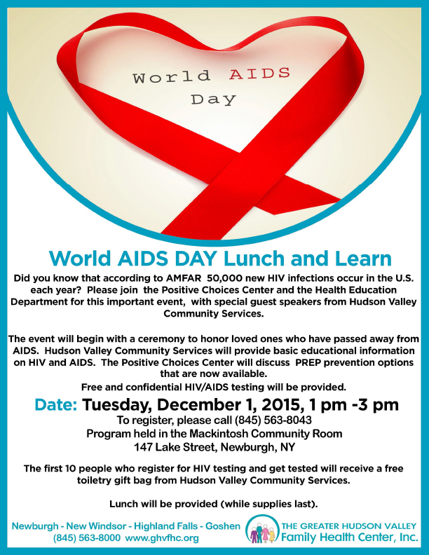 World AIDS Day Lunch & Learn, English