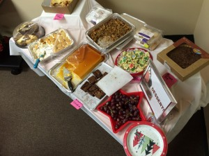The dessert table at HVCS' Hawthorne holiday potluck
