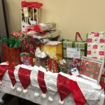 "The pile of ""Secret Santa"" gifts"