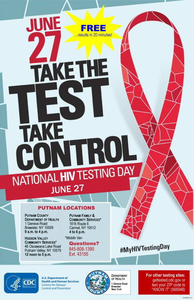 National HIV Testing Day - Putnam Schedule