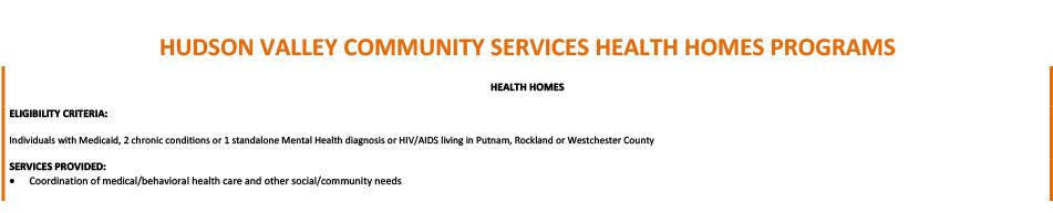 Health Home program