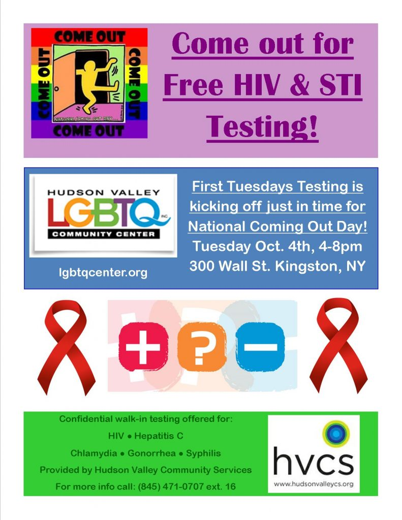 Walk-in HIV Testing on National Coming Out Day