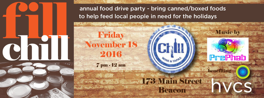 Fill Chill food drive: Nov 18, 2016 at 7 pm