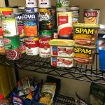 Canned goods collected by Otisville inmates in the PACE program