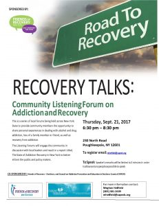 Recovery Talks Listening Forum