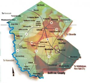 A map of Sullivan County