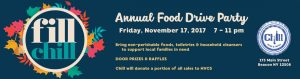 Fill Chill Annual Food Drive Party 2017