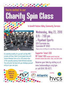 Charity Spin Class, sponsored by Atlantic