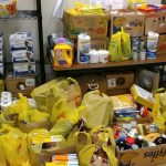 The results of a food drive for our emergency food closets