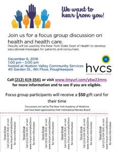 New York Academy of Medicine focus group flyer