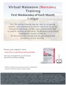 Regional Naloxone Training Monthly Flyer