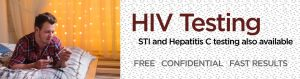 HIV, STI and HCV testing available